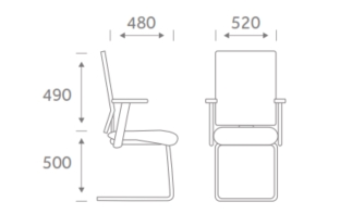 Fresh Task Chair Model Dimensions