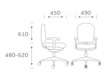 Goal Task Chair Dimensions