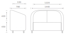 GR2 Grosvenor Soft Seating Dimensions