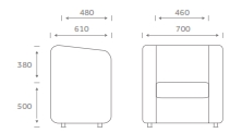 KB1 Klub Soft Seating Dimensions