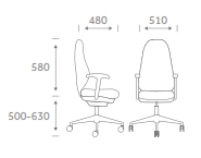 Physio Task Chair Dimensions