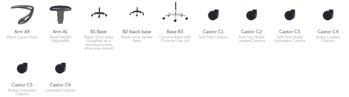 Sphere Task Chair Options