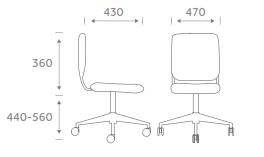 Study1 Task Chair Dimensions