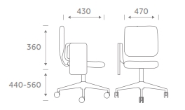 Study1/WT Task Chair Dimensions