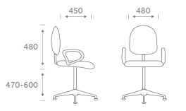 TP1 Task Chair Dimensions