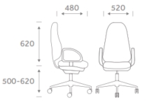 Tick Task Chair Dimensions