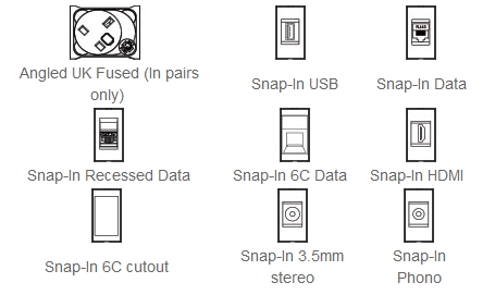 Pearl Desktop Power and Data Module Components
