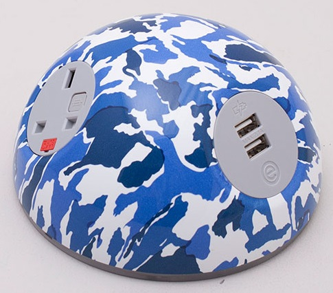 Pluto Desk Top Power Module - Blue Camouflage