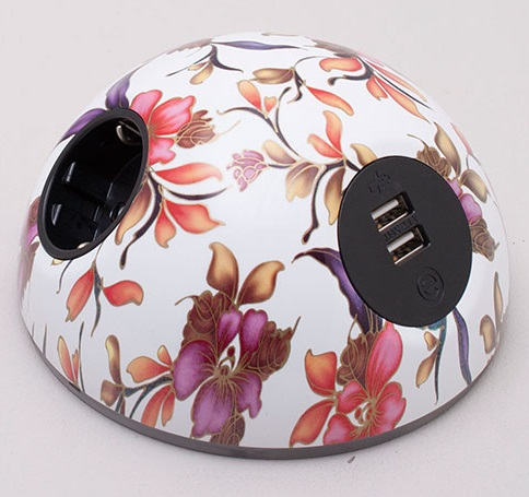 Pluto Desk Top Power Module - Floral