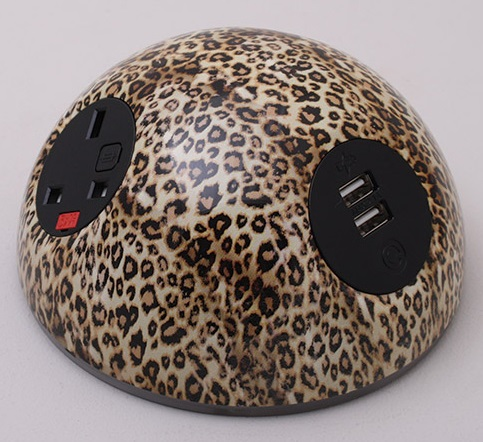 Pluto Desk Top Power Module - Leopard Print