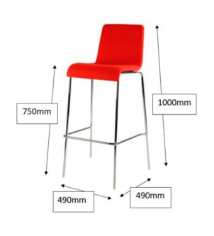 Albany Breakout Chair Image/Dimensions