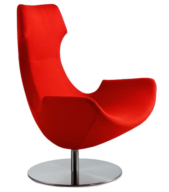 Aria Lounge Chair Image - Round Base