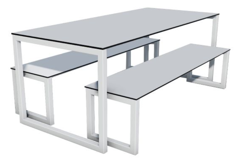 Outdoor Axiom Table & Bench