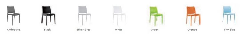 Boston Breakout Chair Colours