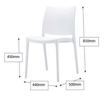 Boston Breakout Chair Dimensions