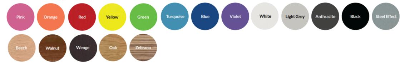 Nova Bench Table Top Colours