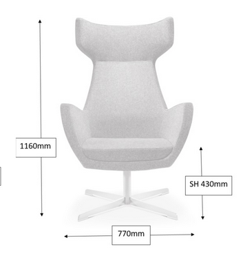 Portland Soft Seating Dimensions