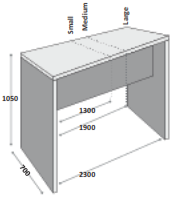 Trestan Table & Bench Dimensions