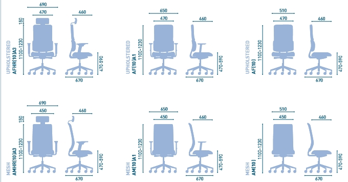 Affiniti Mesh Task Chair Dimensions