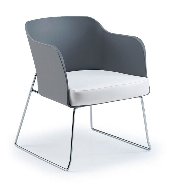 Bloom Visitor Chair - Chrome Sled Frame