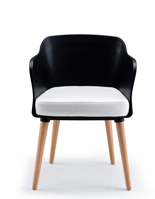 Bloom Visitor Chair - 4 Leg Wood Frame