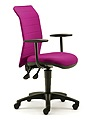 AIR05B - Air Task Chair, Fixed 'T' Arms, Upholstered Back, Back Rake Mechanism