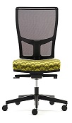 Jib Task Chair - JIB01B - No Arms, Mesh Back, Synchro Mechanism