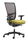 Jib Task Chair - JIB02B - 2D Adjustable Arms, Mesh Back, Synchro Mechanism