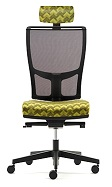 Jib Task Chair - JIB11B - No Arms, Mesh Back, Synchro Mechanism, Adjustable Headrest