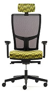 Jib Task Chair - JIB12B - 2D Adjustable Arms, Mesh Back, Synchro Mechanism, Adjustable Headrest
