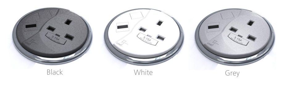PortHole Desk Top Power And Data Module - Colours
