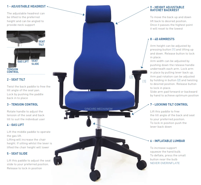 Apex Posture Back Care Chair