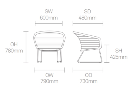 Mayze Chair Dimensions