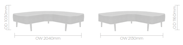 Mote Ottoman Image - Curved