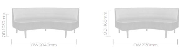 Mote Sofa Image - Curved