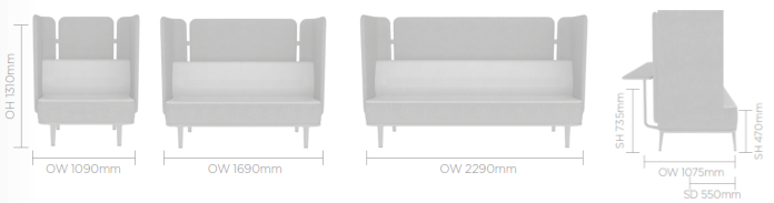 Mote Sofa Image - Rear/Side Screen & Shelf
