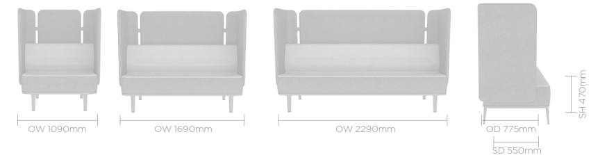 Mote Sofa Image - Rear & Side Screen