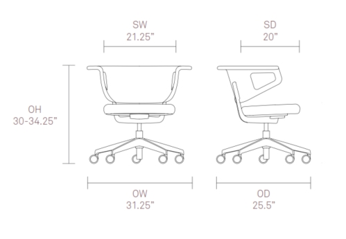 Sholes Chair Dimensions