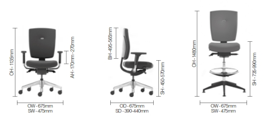 Sprint Task Chair Dimensions