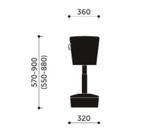 Mickey Stool Dimensions