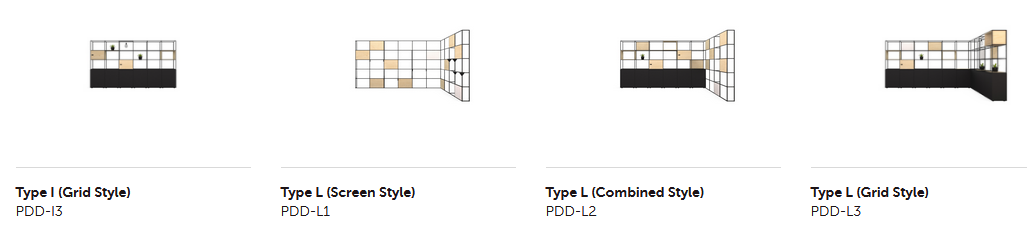 Palisades II Zone Divider - Configurations