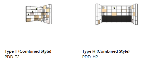 Palisades II Zone Divider - Example Configurations