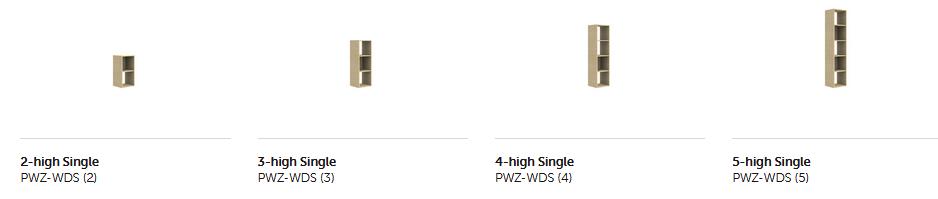 Palisades Wood Zone Divider - Base Options