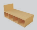 Student Bedroom Furniture Standard Storage Bed - Single