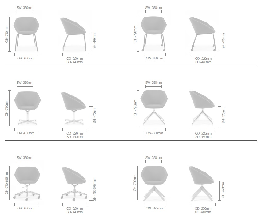 Clara Soft Seating Dimensions