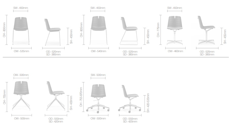 Mindy Multifunctional Chair Dimensions