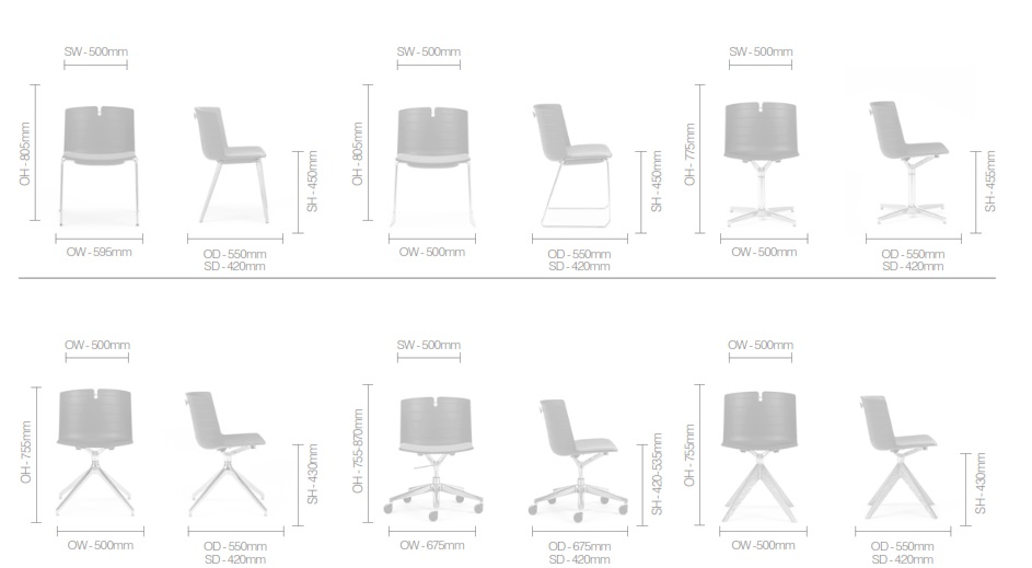 Mork Multifunctional Chair Dimensions