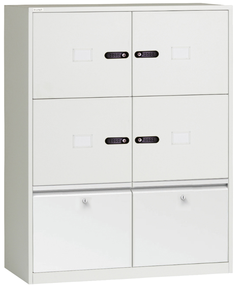 Metrix Agile Working/Smart Working Lockers with twin drawers