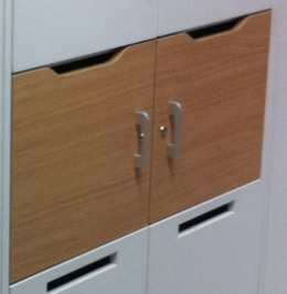 Metrix N Wood Hot Desk Lockers - Post Slot Option