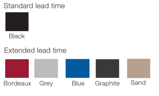 TR4 Beam Seating Polypropylene colours